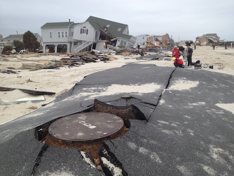 house and roads destroyed after the hurricane