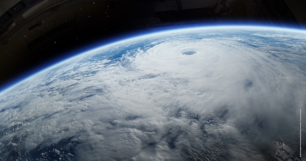 satellit view of a hurricane